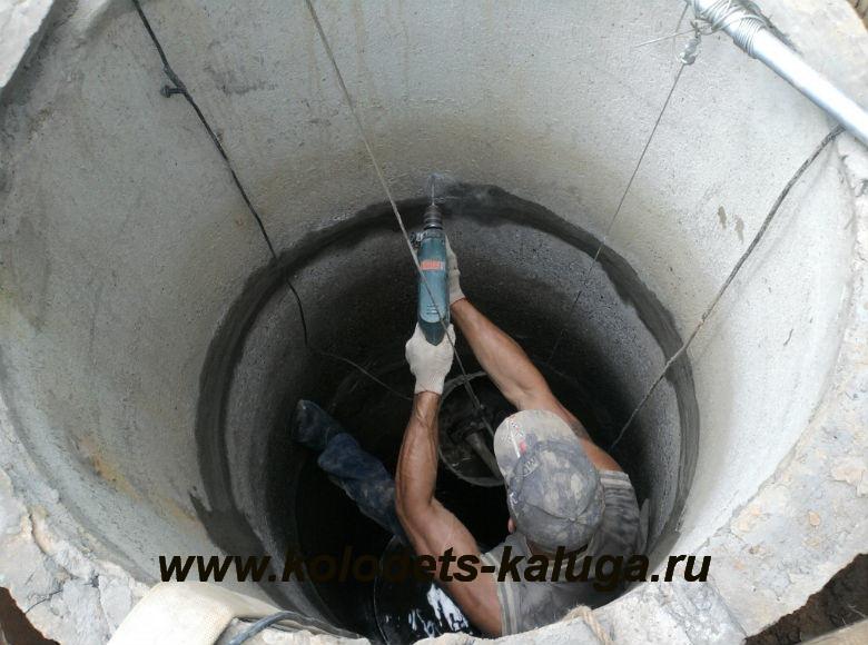 Очистка и ремонт колодца.